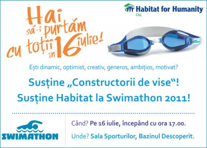 Constructorii de vise, echipa Habitat pentru Umanitate la Swimathon 2011