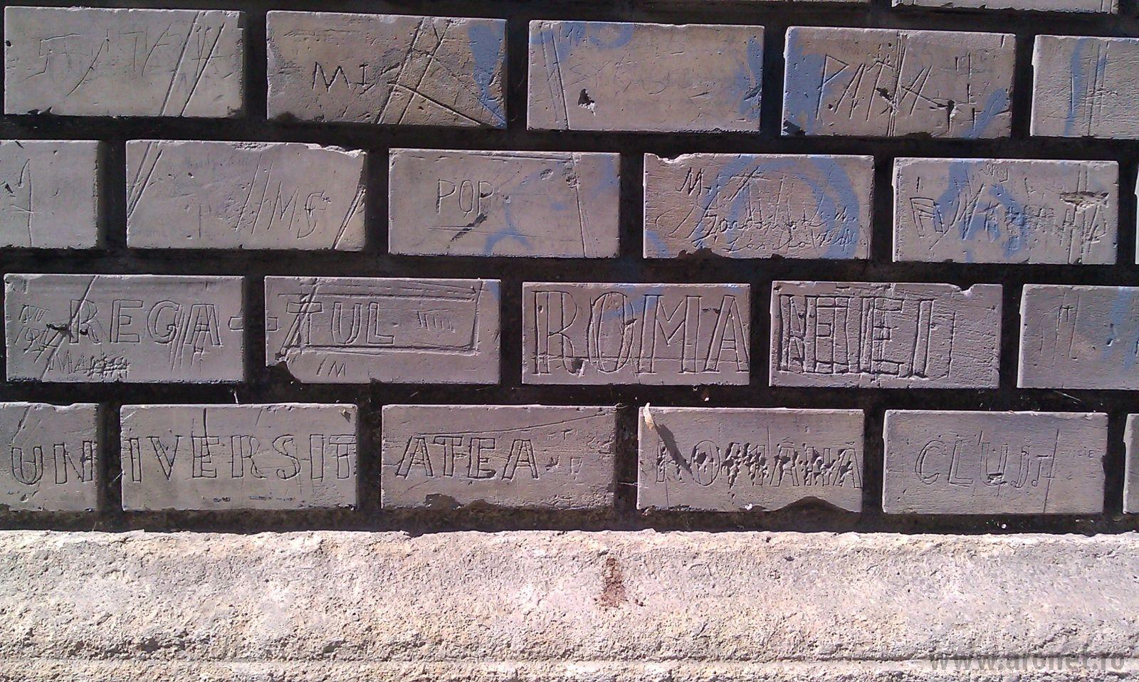 Zidul din Cluj pe care oamenii și-au scris istoria