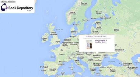 Harta celor mai citite carti