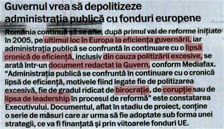 Guvernul Ponta recunoaște: este cel mai ineficient din Europa