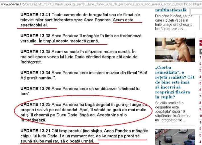Live text de la înmormântare. Veșnică pomenire cui te-a comandat!